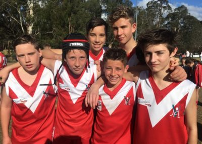 Round 11 u14 photo players in the sun